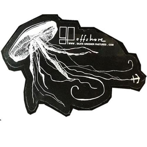 Greener Pastures Sticker: Offshore Sticker Jellyfish Stickers- Edge Boardshop