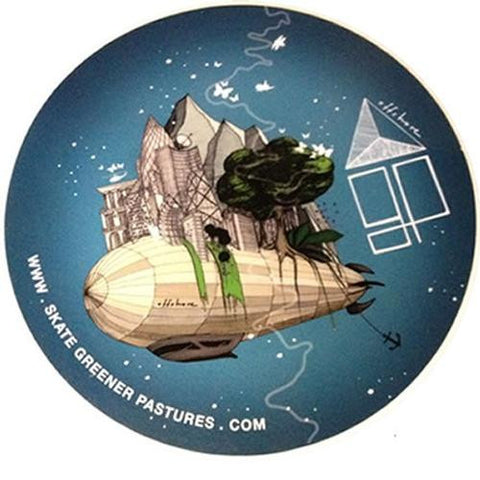 Greener Pastures Sticker: Offshore Sticker Airship Stickers- Edge Boardshop
