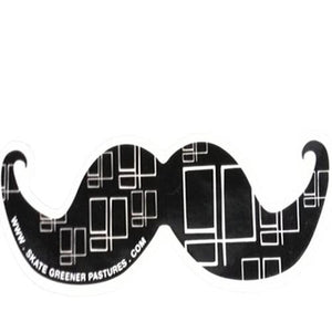 Greener Pastures Sticker: Offshore Sticker Moustache Stickers- Edge Boardshop