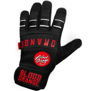 Blood Orange Slide Gloves: Knuckles Black/Black Slide Gloves & Pucks- Edge Boardshop