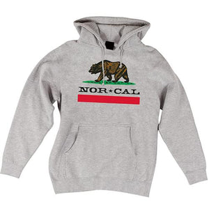 Nor Cal Sweatshirt: Nor Cal Republic Pullover Hoody Grey Sweatshirts- Edge Boardshop