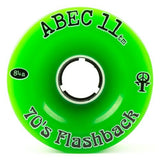 ABEC11 Longboard Wheels: Flashbacks 70mm 84a Green Wheels- Edge Boardshop