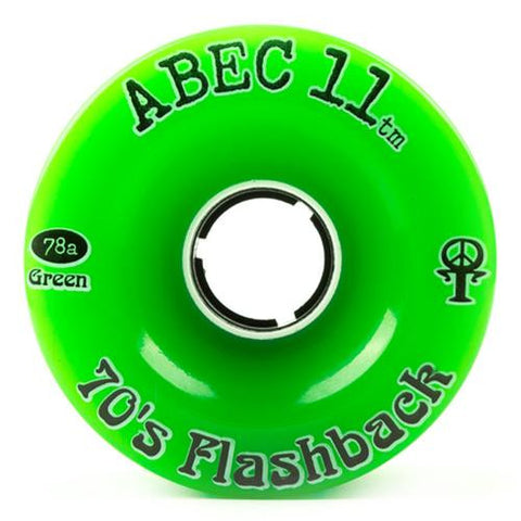 ABEC11 Longboard Wheels: Flashbacks 70mm 78a Green Wheels- Edge Boardshop