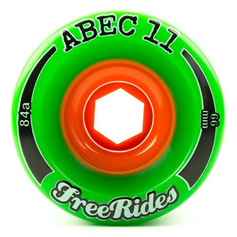 ABEC11 Longboard Wheels: Freerides 66mm 84a Wheels- Edge Boardshop