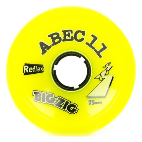 ABEC11 Longboard Wheels: BigZigs Reflex 75mm 83a Lemon Wheels- Edge Boardshop