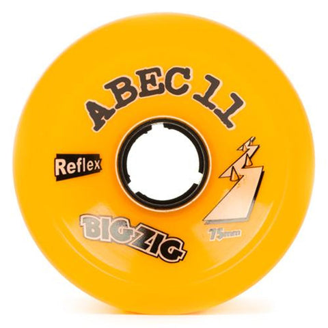ABEC11 Longboard Wheels: Big Zigs Reflex 75mm 86a Orange Wheels- Edge Boardshop