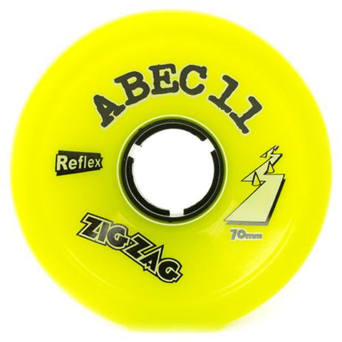 ABEC11 Longboard Wheels: ZigZags Reflex 70mm 83a Yellow Wheels- Edge Boardshop