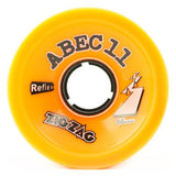 ABEC11 Longboard Wheels: ZigZags Reflex 66mm 86a Orange Wheels- Edge Boardshop