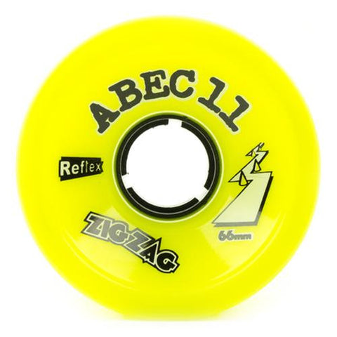 ABEC11 Longboard Wheels: ZigZags Reflex 66mm 83a Lemon Wheels- Edge Boardshop