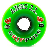 ABEC11 Longboard Wheels: Grippins 70mm 84a Wheels- Edge Boardshop