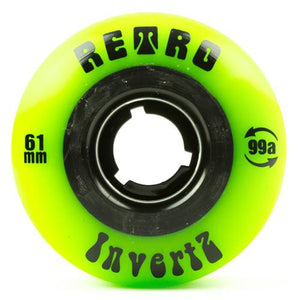Retro Skateboard Wheels: Invertz 61mm 99a Wheels- Edge Boardshop