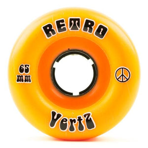 Retro Longboard Skateboard Wheels: Vertz 65mm 96a Wheels- Edge Boardshop