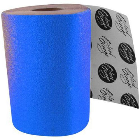Blood Orange Grip Tape: Course Grip Tape Neon Blue SHEET Grip Tape- Edge Boardshop