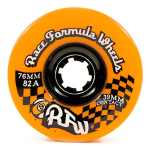 Sector 9 Longboard Wheels: RFW 76mm 82a Orange Round Lip