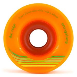 Orangatang Longboard Wheels: The Cage 73mm 80a Orange Wheels- Edge Boardshop