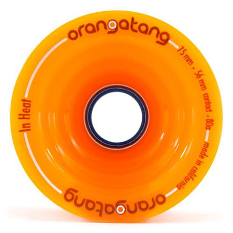 Orangatang Longboard Wheels: In Heat 75mm 80a Orange Wheels- Edge Boardshop