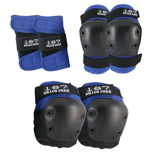 187 Killer Pads:  Junior Pad Set Knee Pads,Shin Pads,Wrist Guards- Edge Boardshop