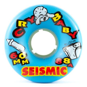 Seismic Longboard Wheels: Cry Baby 60mm 88a Blue
