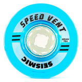 Seismic Longboard Wheels: Speed Vent 85mm 75a Clear Blue