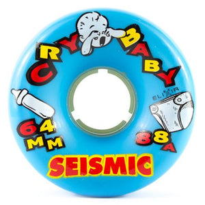 Seismic Longboard Wheels: Cry Baby 64mm 88a Blue