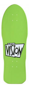 Vision Skateboard Deck: Gator 2 Green Black