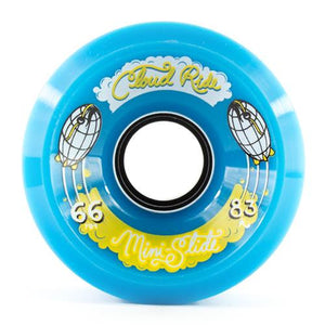 Cloud Ride Wheels: Mini Slide 66mm 83a Blue Wheels- Edge Boardshop