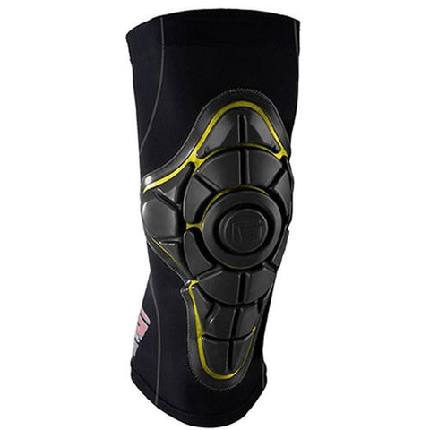 G-Form Protective Gear: Pro-X Knee Pads Black/Yellow Knee Pads- Edge Boardshop