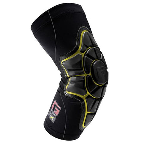G-Form Protective Gear: Pro-X Elbow Pads Black/Yellow Shin Pads- Edge Boardshop