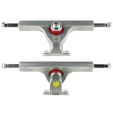"Caliber Trucks: Fifty Degree 9"" Raw Trucks- Edge Boardshop"