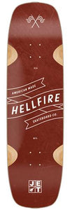 Jet Longboard Deck: Hellfire Series Shred Sled 34 Boards- Edge Boardshop