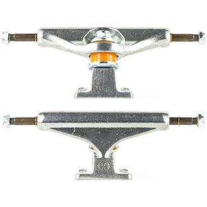 "Independent Trucks: 129 7.6"" Silver Trucks- Edge Boardshop"