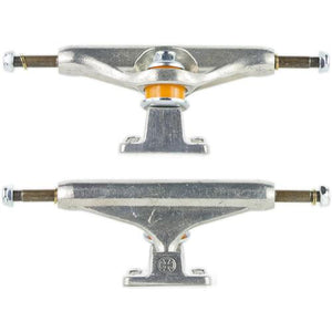 "Independent Trucks: 139  8"" Silver Trucks- Edge Boardshop"
