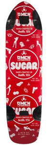 Omen Longboards Deck: Sugar 39 Red Boards- Edge Boardshop