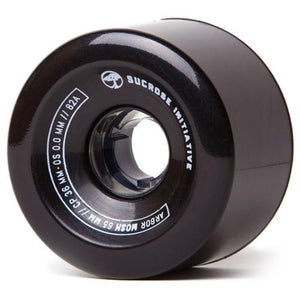 Arbor Longboard Wheels: Mosh 65mm 82a Black Wheels- Edge Boardshop
