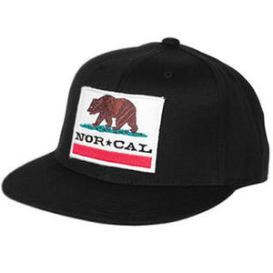 Nor Cal Hat: California Republic Black Hats- Edge Boardshop