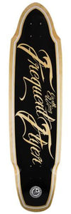 Earthwing Longboard Deck: Frequent Flyer 36 Black Boards- Edge Boardshop