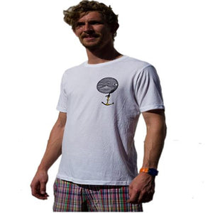 Greener Pastures T Shirt: GP Offshore Anchor White T Shirts- Edge Boardshop