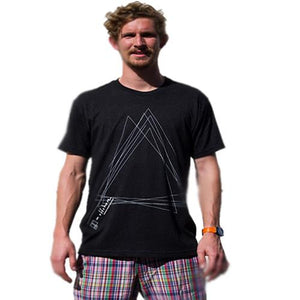 Greener Pastures T Shirt: GP Offshore Triangle Black T Shirts- Edge Boardshop