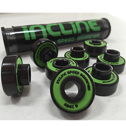 Incline Bearings: Speed Bearings ABEC 9 Built-In Spacer BEST SELLER Bearings- Edge Boardshop