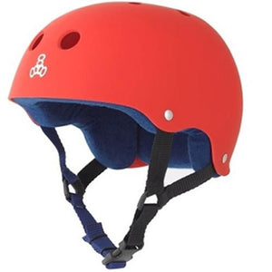 Triple 8 Helmet: Brainsaver Rubberized United Red