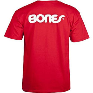 Bones T Shirt: Swiss Text Red T Shirts- Edge Boardshop