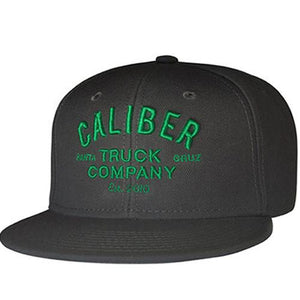 Caliber Hat: Caliber Trucks Logo Snapback Grey Green Hats- Edge Boardshop