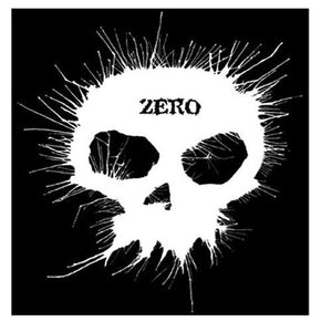 Zero Skateboards Sticker: Blown Ink Skull