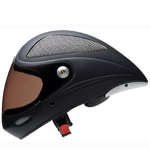 Icaro Full Face Helmet: 4 Fight Grid Long Tail Black Velvet Helmets Full Face- Edge Boardshop