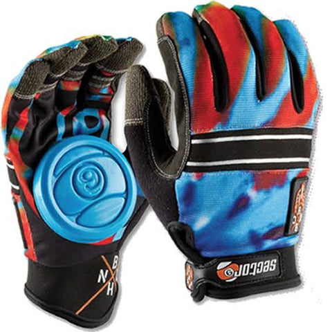 Sector 9 Gloves: BHNC Slide Gloves Acid Blue