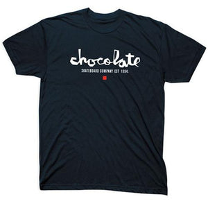 Chocolate Skateboards T Shirt: Chunk EST Premium Black T Shirts- Edge Boardshop