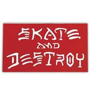 Thrasher Sticker: Skate & Destroy