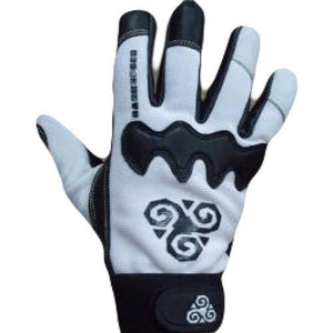 Darkspeed Slide Gloves: DGB White Slide Gloves & Pucks- Edge Boardshop