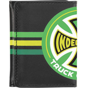 Independent Trucks Wallet: Tri-Fold Stripes Black Wallets- Edge Boardshop
