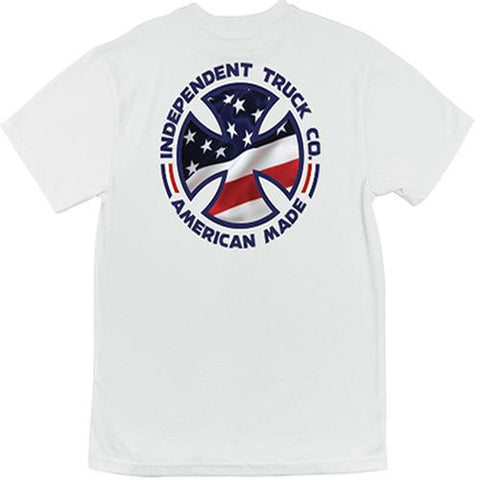 Independent Trucks T Shirt: Flag Fill White SALE T Shirts- Edge Boardshop